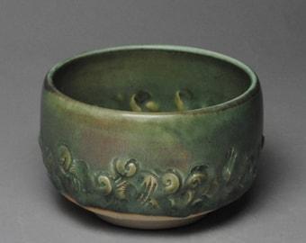 Tea Bowl Copper Green  Matcha Chawan H55