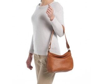 33a7977a058 Tan leather hobo bag - Soft leather bag - Hobo purse - SMALL HELEN bag