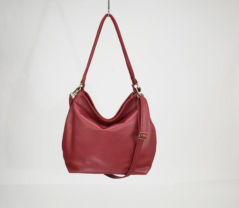 29f09b7224 Large soft shoulder bag for women Slouchy cross body hobo