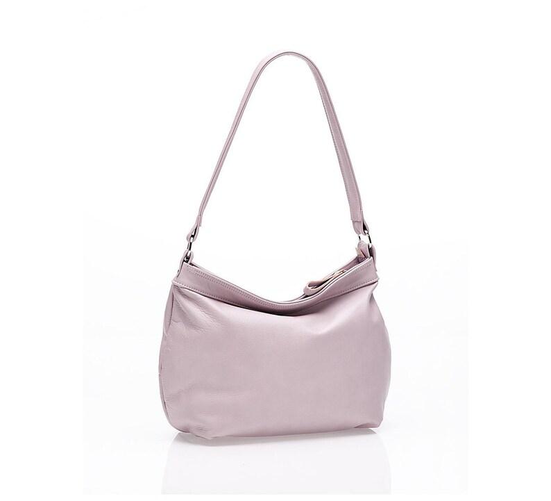 0d28f5af0072f Soft pink leather bag Slouchy women purse Pink hobo bag