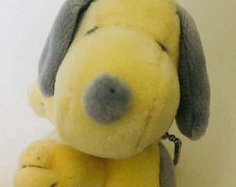 Japanese  PEANUTS Snoopy Key Mascot Gray