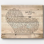 Personalized Rustic Anniversary, Wedding Gift - Custom Wedding Song gift - song lyrics wall art - ready to hang CANVAS - Farmhouse style art