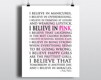 I Believe in Manicures I Believe in Pink ~  Wall or Window Decal