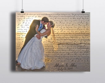 Personalized Wedding Photo PRINT - Any Song Lyrics on your photo - Wedding Memento - Unique Wedding or Anniversary Gift for couple