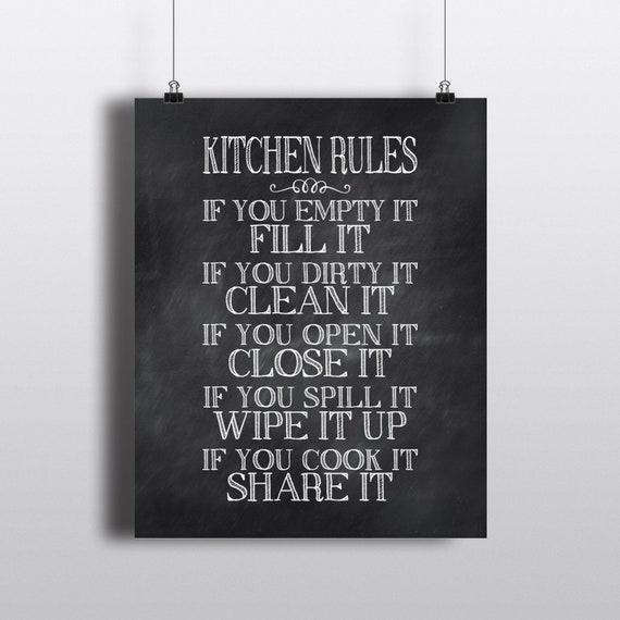 Küche Wandkunst Regeln wenn Sie leer es füllen Sie es