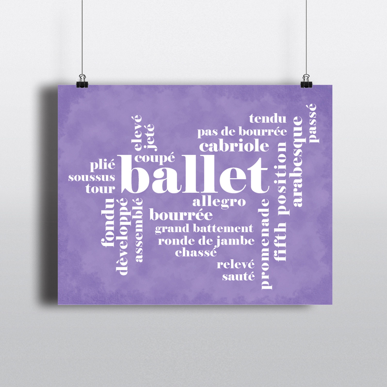 Sans danse Whats point Ballerine Carte de vœux 5x7 Pouces Anniversaire?