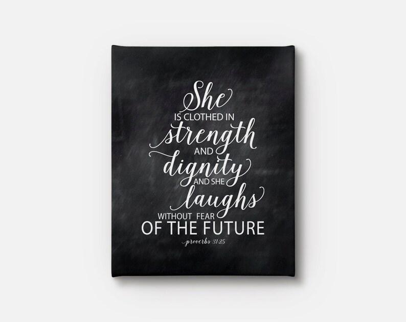 Sie Ist In Kraft Und Wurde Gekleidet Und Lacht Sie Ohne Angst Etsy