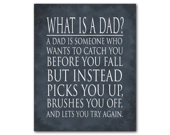 Wall Art - Unique Gift for Dad - What is a dad quote Word Art PRINT - tribute to dad - Inspirational quote - special present for father