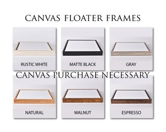 Custom Float Frames with canvas purchase .75 width only - FRAME ADD-ON