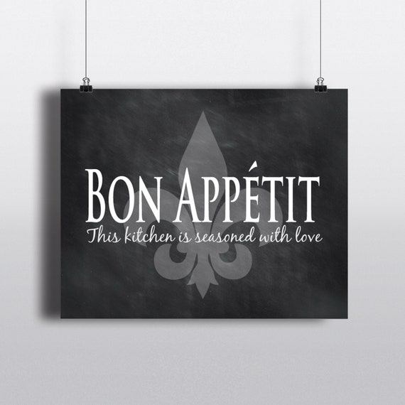 Kitchen Wall Art Bon Appetit This Kitchen Is Seasoned With Etsy