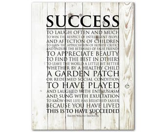 Success Inspirational quote - This is to have succeeded - laugh often and much - Emerson quote - graduation gift for teen - chalkboard PRINT