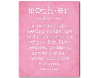 Mother Quote - Mother's Day Gift - Family Wall Art -Typography Art PRINT - room decor - mother love wall decor - Gift for Mom - gift for her