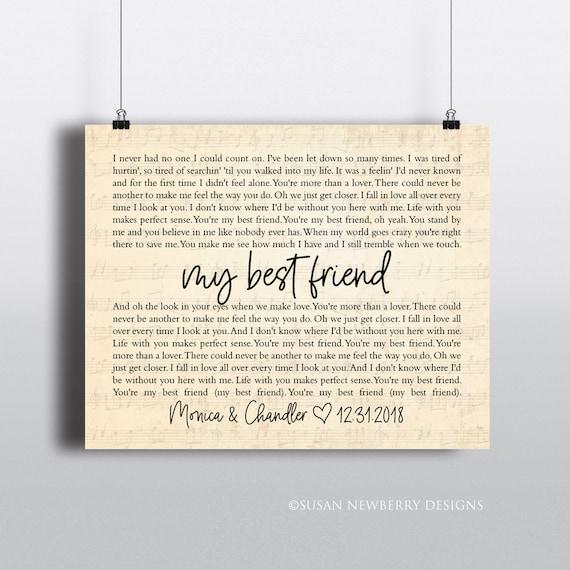 Custom Couple Wedding Names and Date Sheet Music Lyrics Canvas Wall Art Print