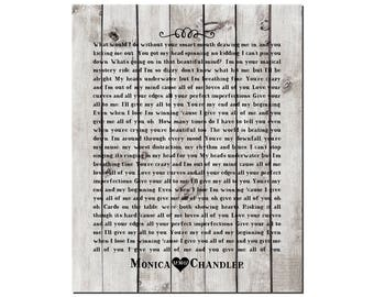 Customized Wedding, Anniversary Gift - Any Song Lyrics - Wedding Song PRINT -First Dance Song - Wedding Vows - Farmhouse style PRINT