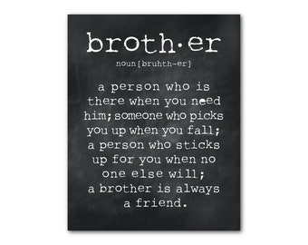 CANVAS Wall Art - A brother is a person - Brother Quote - Inspiration - Typography Art - Room decor - Brother Gift - Boys Room Wall Art