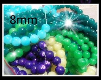 Glass Beads Assorted Beads Bulk Beads Wholesale Beads 8mm Glass Beads 8mm Beads-20 Strands-2080pcs PREORDER