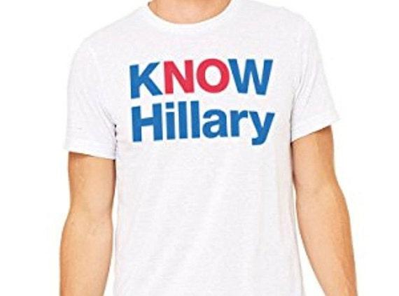 Ne savoir Hillary aucun Hillary T-shirt | Hillary Clinton unisexe Tee