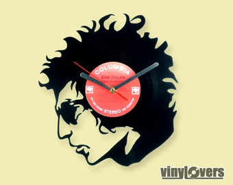 Bob Dylan gift wall clock from vinyl record rock unique handmade folk rock blues country