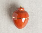 READY TO SHIP : Heirloom Christmas Ornament // Round Oxblood Red & Gold