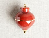 READY TO SHIP : Heirloom Christmas Ornament // Radish Oxblood Red & Gold