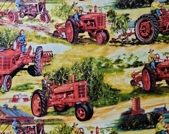 Licensed Farmall Fabric from V.I.P. Exclusive is RARE and Out of Print - Sold by the FULL YARD!