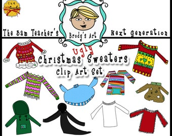 Ugly Sweater Clip Art Collection