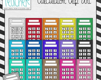 Back 2 School Supplies: Calculator Clip Art