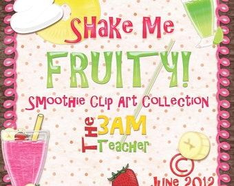 Shake Me Fruity: Smoothie Clip Art
