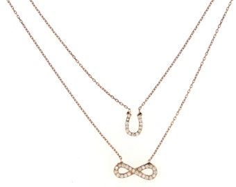 Lucky Infinity Necklace-RoseGold