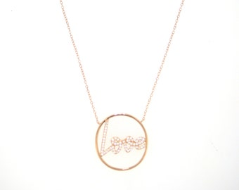 Eternal Love Script Necklace