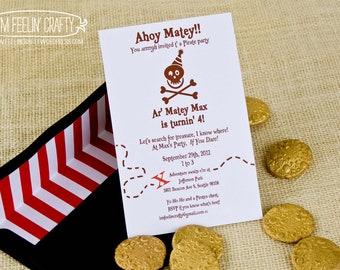 Pirate Party Invitation- Printable