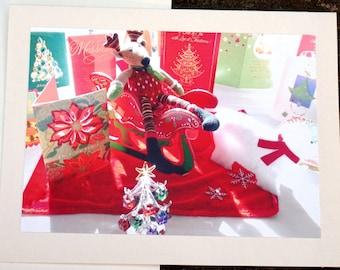 Blank Christmas Card, Original Photography, Blank Holiday Card, Blank Card, Unique Xmas Card
