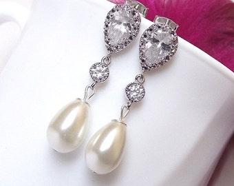 Pearl Drop Earrings Etsy