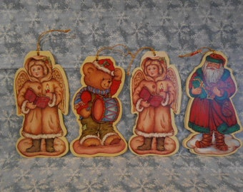 Vintage  Russ Christmas Heavy Paper Ornaments/Gift Tags