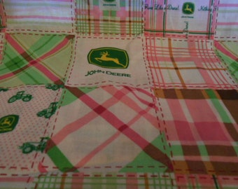 "John Deere Pink Fabric - 1 Yd 44"" Wide"