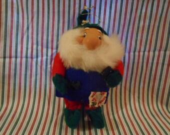 """Santas Best- 7"""" Pre-Owned Santa Elf- Toy Maker - #EE"""