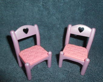 Fisher Price Loving Family Dollhouse PRINCESS CASTLE CHAIRS- Once Upon a Dream
