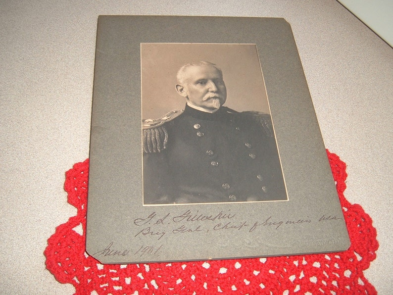 1901 Vintage Photograph of Brigadier General G.L Gillespie Chief of Engineers