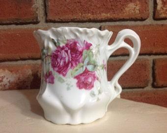 Vintage Rose Floral Moustache Cup - Lady's Great Bathroom Decor