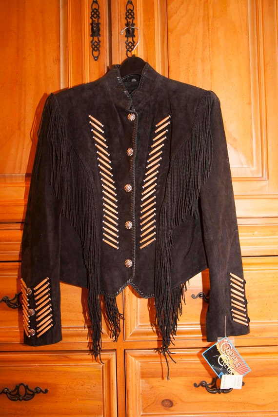 Cripple Creek Women's Leather Suede Twisted Fringe