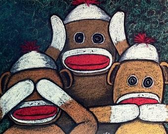 See No Evil Sock Monkeys