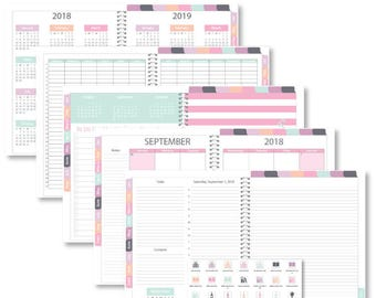"Goodnotes 2018 iPlanner Digital Planner ""Heather"" Daily Layout"