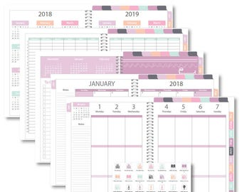 "Goodnotes 2018 iPlanner Digital Planner ""Heather"" Weekly Vertical Layout"