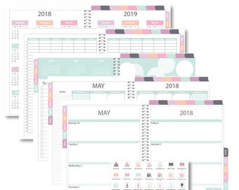"Goodnotes 2018 iPlanner Digital Planner ""Heather"" Weekly Horizontal Layout"