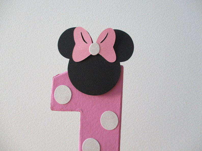 Pink Minnie Mouse Inspired Birthday One Photo Prop Smash Cake Minnie Mouse Number One Centerpiece Minnie Mouse Number 1 Photo Prop 8 in