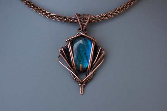 Art Deco Wirework Wire Wrapped Cabochon Pendant Tutorial