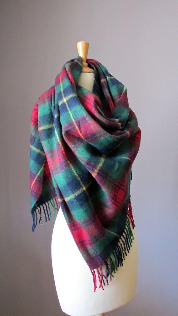 8dcde13bafe Tartan scarf Plaid scarf Green infinity scarf Men scarf