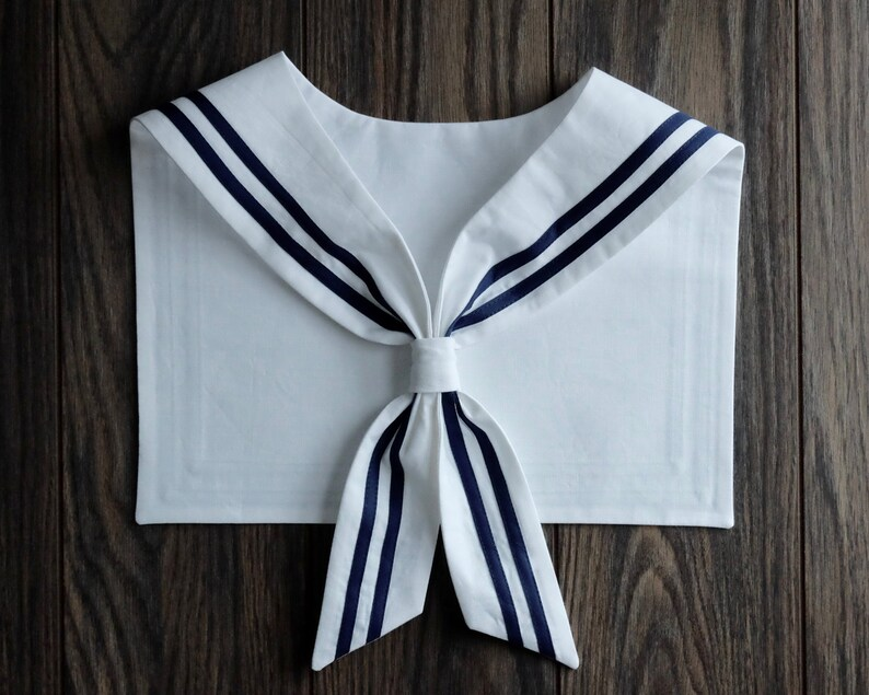 1920s Blouses & Shirts History Sailor Collar. White $35.00 AT vintagedancer.com