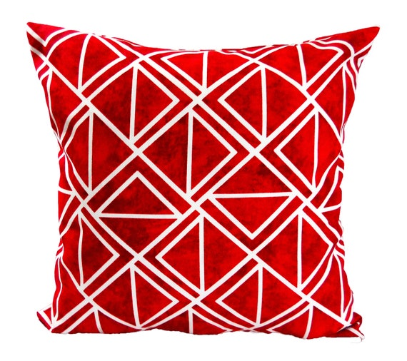 Red And White Throw Pillows Accent Pillow Covers Decorative Etsy Unique Red And White Decorative Pillows