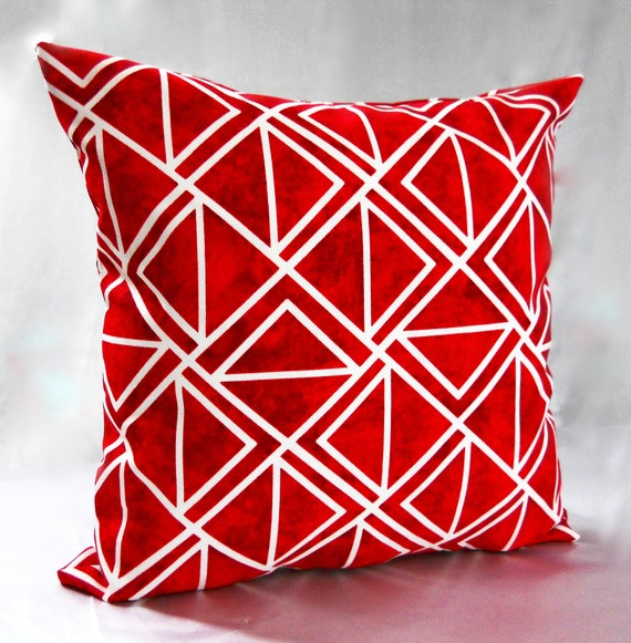 Magnificent Geometric Red And White Throw Pillows Accent Pillow Covers Decorative Pillows Cushions Diamond Couch Sofa 16 18 20 22 24 26 Uwap Interior Chair Design Uwaporg